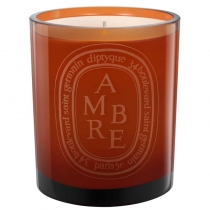Colored Glass Candle - Ambre (Amber)