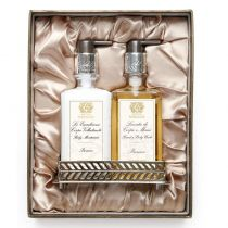 Bath & Body Set with Nickel Plated  Tray - Prosecco