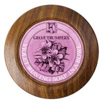 Shaving Soap with Wood Bowl - Violet