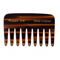 Wide Tooth Tortoise 4 inch Pocket Comb # 5W