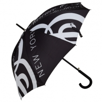 Black & White Print Stick Umbrella