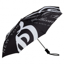 Black & White Print Compact Umbrella