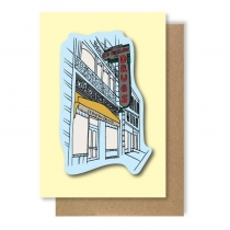 C.O. Bigelow Storefront Greeting Card
