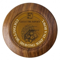 Shaving Soap with Wood Bowl - Coconut
