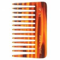 Wide Tooth 4 inch Tortoise Comb # C5T