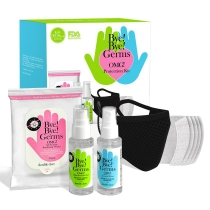 Bye Bye Germs! OMG Protection Kit with Black Mask