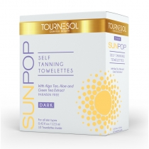 SunPop Self Tanning Towelettes - Dark - Box of 10