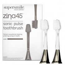 Zina45 - Replacement heads (Two Heads)  Chrome  Charcoal