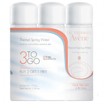 Avene 3 to go Thermal Spring Water- 3 each 1.7 fl. oz