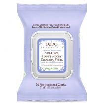 Babo Botanicals 3-in-1 Cleansing Wipes - French Lavender & Meadowsweet