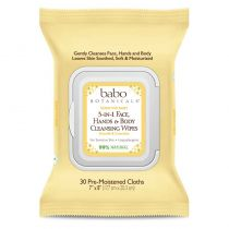 Babo Botanicals 3-in-1 Cleansing Wipes - Oatmilk & Calendula