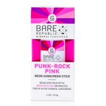 Bare Republic Neon Sunscreen Stick - Punk Rock Pink SPF 50
