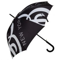 C.O. Bigelow Black & White Print Stick Umbrella