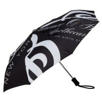 C.O. Bigelow Black & White Print Compact Umbrella