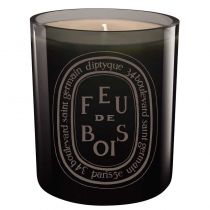 Diptyque Colored Glass Candle - Feu de Bois