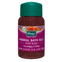 Kneipp Mineral Bath Salt - Red Poppy & Hemp / Pure Bliss