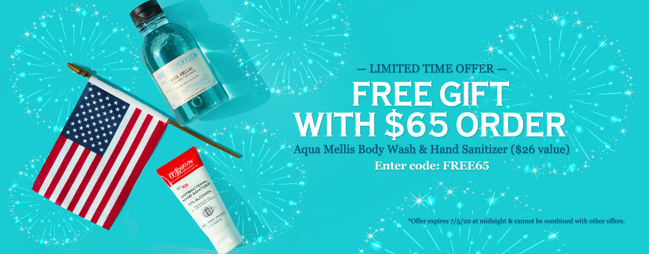 Free Gift with $65 Order
