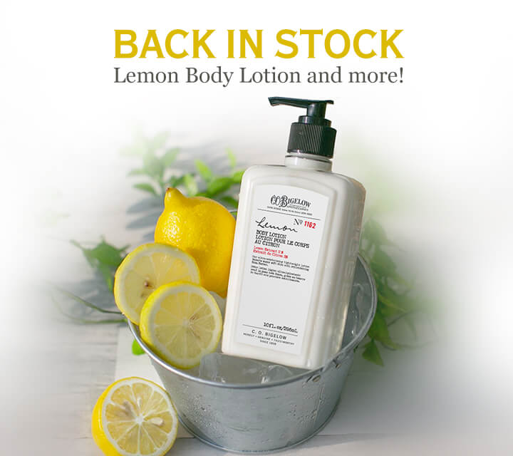 Back In Stock Lemon Body Lotion and more!