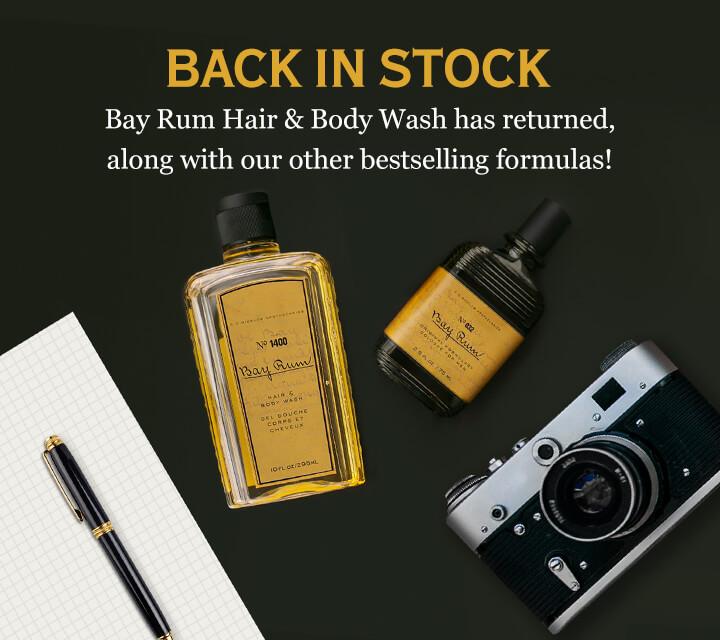 Back In Stock Bay Rum