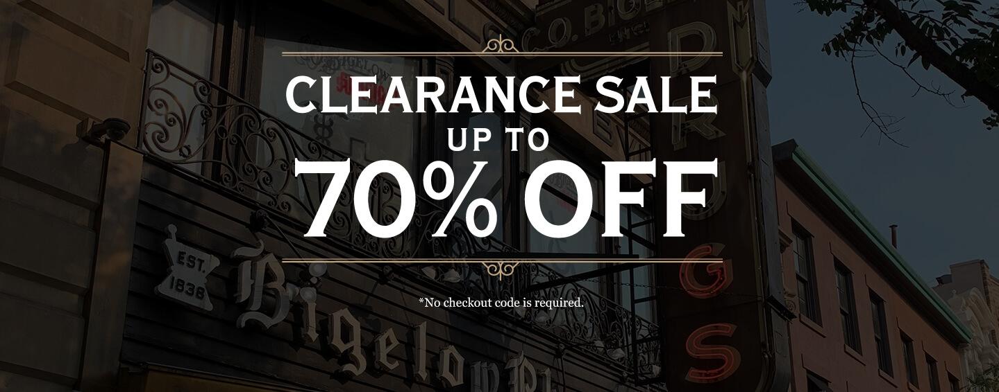 C.O. Bigelow Clearance Sale